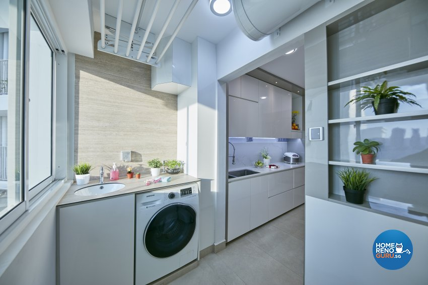 Contemporary, Modern Design - Kitchen - HDB 4 Room - Design by Home Design Base