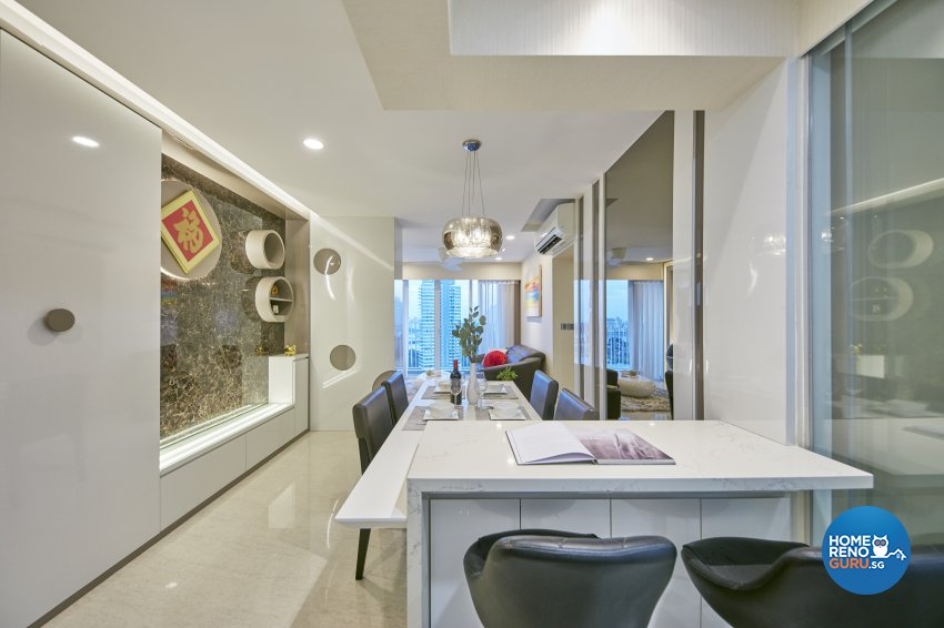 Contemporary, Modern Design - Dining Room - HDB 4 Room - Design by Home Design Base