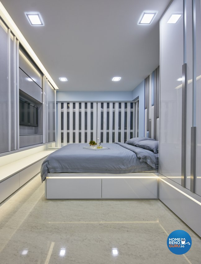 Contemporary, Modern Design - Bedroom - HDB 4 Room - Design by Home Design Base