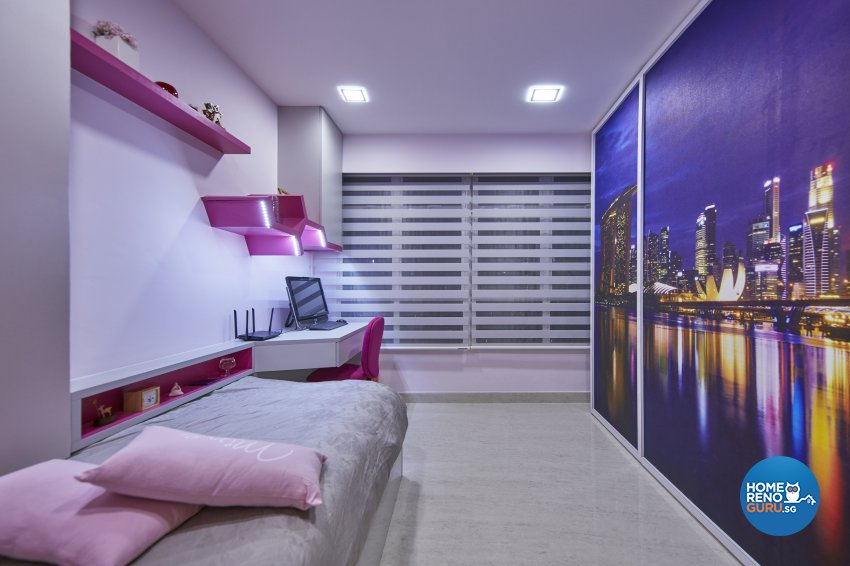 Contemporary, Modern Design - Study Room - HDB 4 Room - Design by Home Design Base