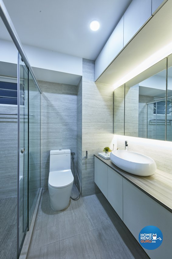 Contemporary, Modern Design - Bathroom - HDB 4 Room - Design by Home Design Base