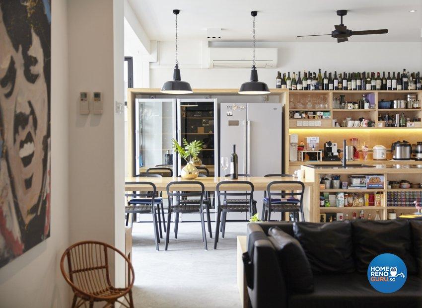 Industrial Design - Dining Room - Condominium - Design by Home Design Base
