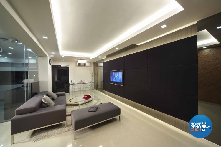 Minimalist, Modern Design - Living Room - HDB 5 Room - Design by Home Design Base