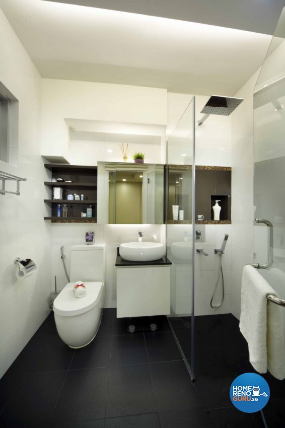 Minimalist, Modern Design - Bathroom - HDB 5 Room - Design by Home Design Base