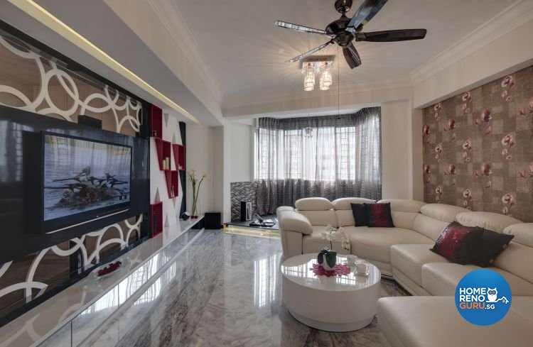Contemporary, Modern Design - Living Room - Condominium - Design by Home Design Base