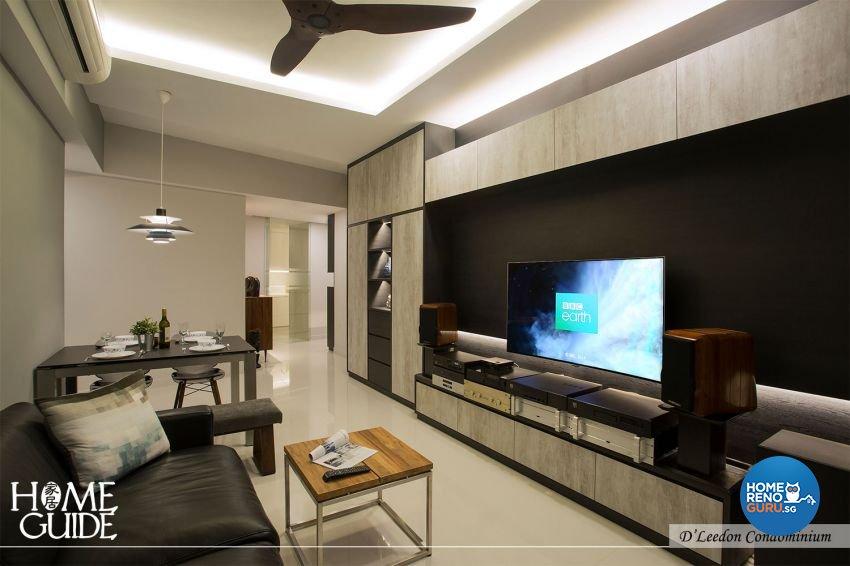 Contemporary, Rustic Design - Living Room - Condominium - Design by Home Guide Design & Contracts Pte Ltd