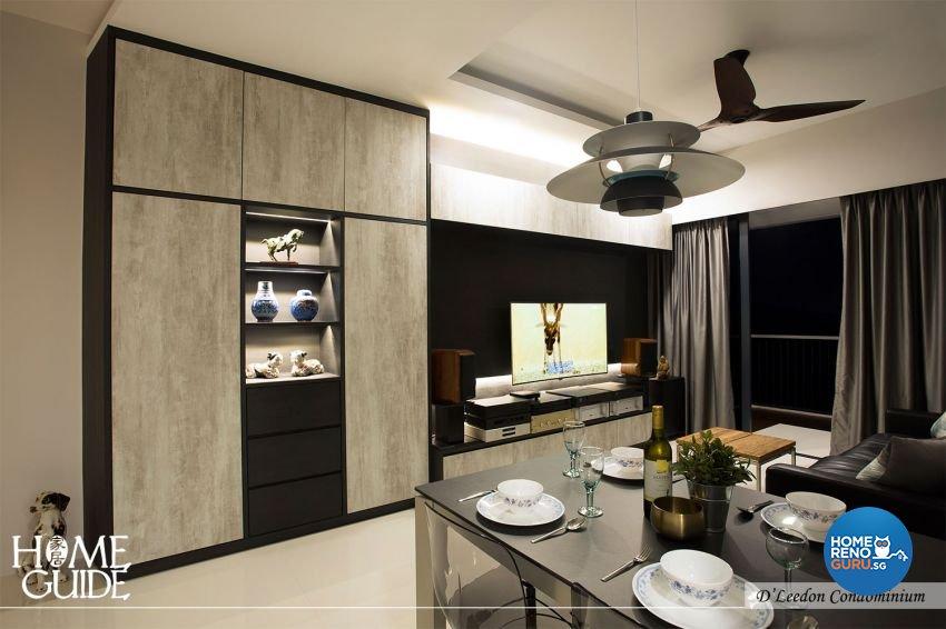 Contemporary, Rustic Design - Dining Room - Condominium - Design by Home Guide Design & Contracts Pte Ltd