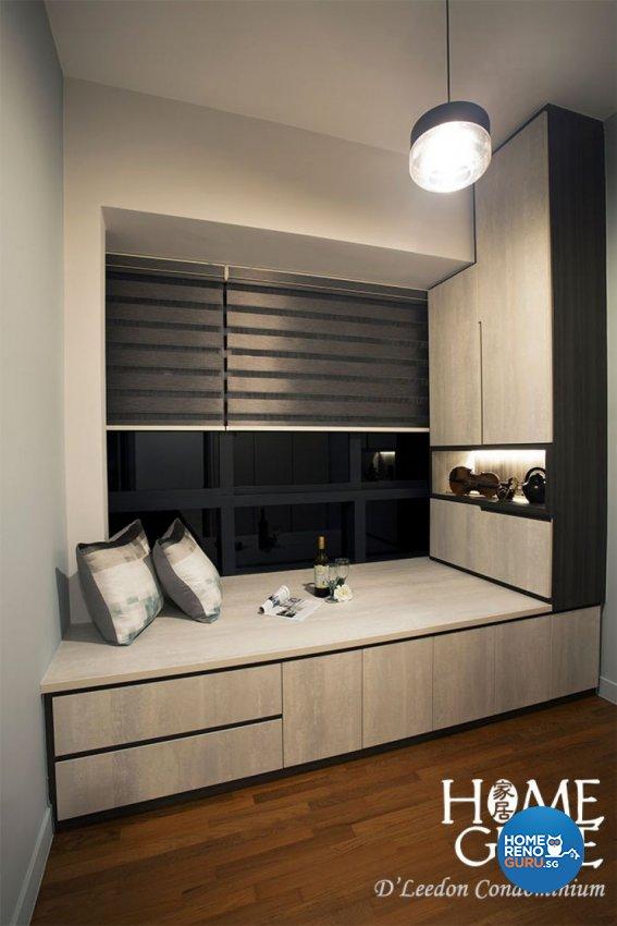 Contemporary, Rustic Design - Entertainment Room - Condominium - Design by Home Guide Design & Contracts Pte Ltd