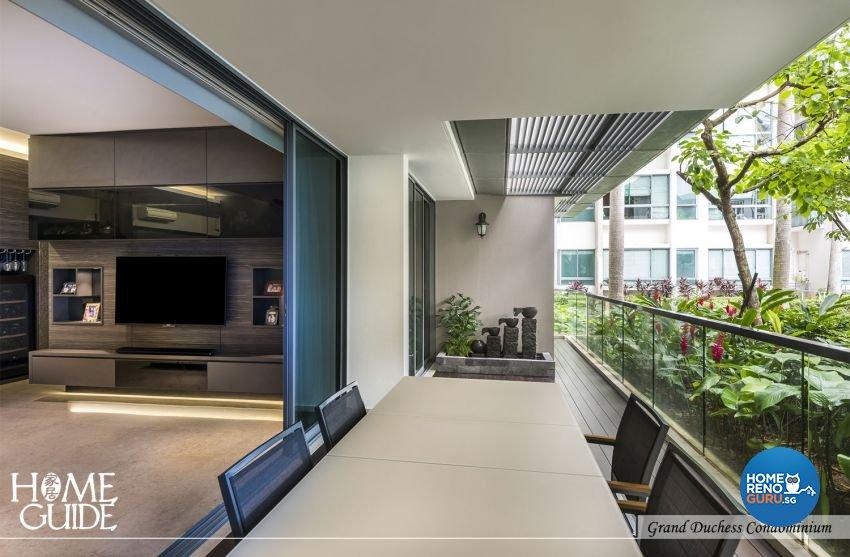Contemporary, Minimalist, Modern Design - Balcony - Condominium - Design by Home Guide Design & Contracts Pte Ltd