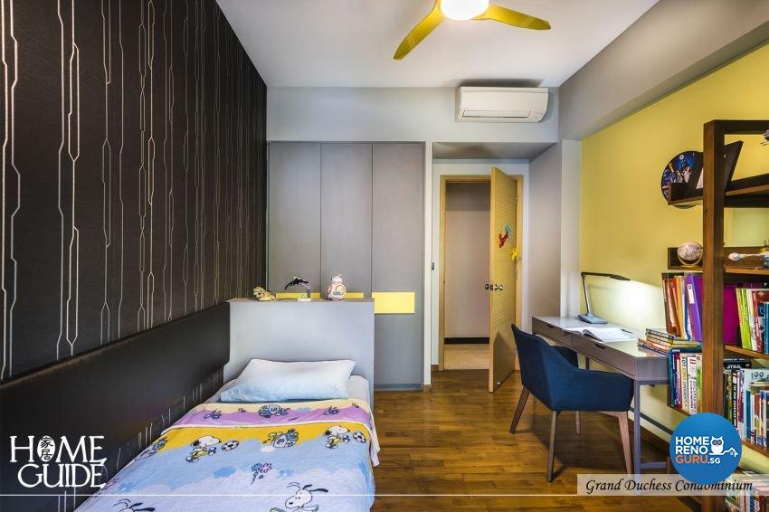 Contemporary, Minimalist, Modern Design - Bedroom - Condominium - Design by Home Guide Design & Contracts Pte Ltd