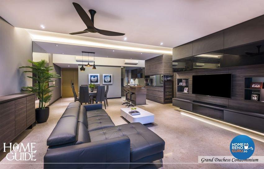 Contemporary, Minimalist, Modern Design - Living Room - Condominium - Design by Home Guide Design & Contracts Pte Ltd