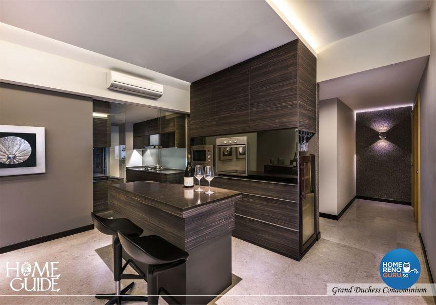 Contemporary, Minimalist, Modern Design - Entertainment Room - Condominium - Design by Home Guide Design & Contracts Pte Ltd