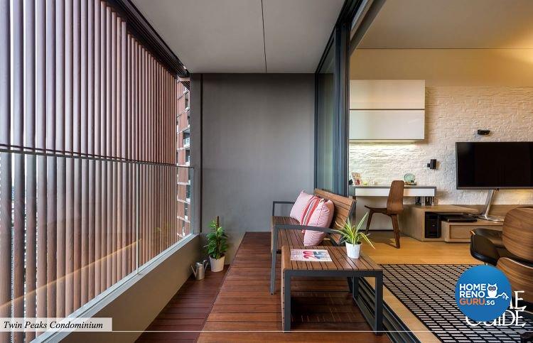 Contemporary, Minimalist Design - Balcony - Condominium - Design by Home Guide Design & Contracts Pte Ltd