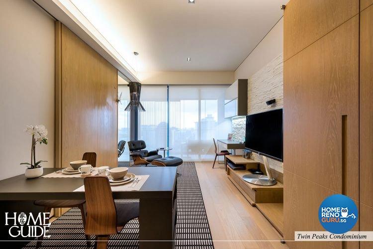 Contemporary, Minimalist Design - Living Room - Condominium - Design by Home Guide Design & Contracts Pte Ltd