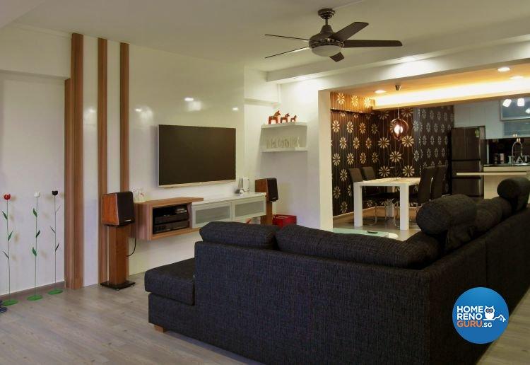 Modern, Tropical Design - Living Room - Condominium - Design by Home Reno Pte Ltd