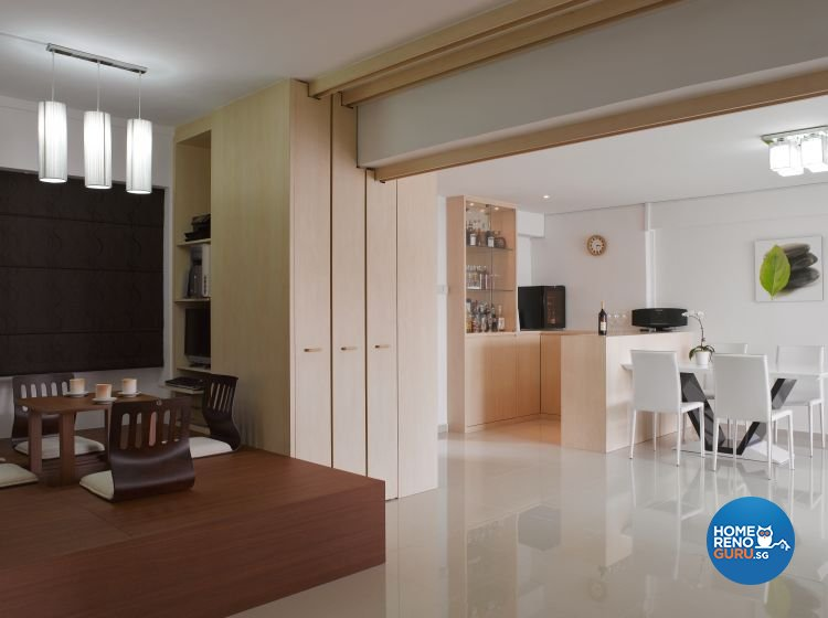 Contemporary, Minimalist Design - Entertainment Room - HDB 5 Room - Design by Home Studio Design Pte Ltd