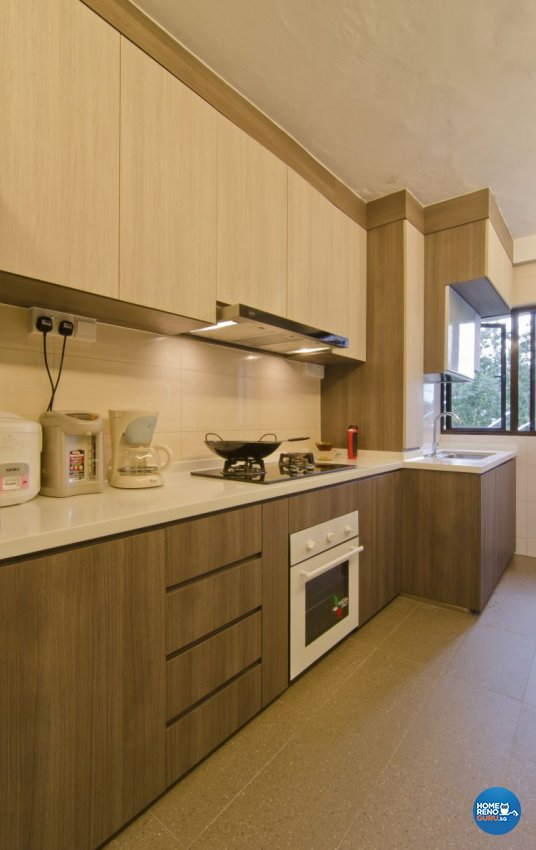 Contemporary, Tropical Design - Kitchen - Landed House - Design by Home Studio Design Pte Ltd
