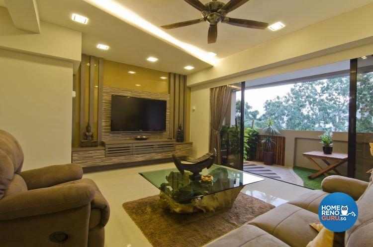 Contemporary, Tropical Design - Living Room - Landed House - Design by Home Studio Design Pte Ltd