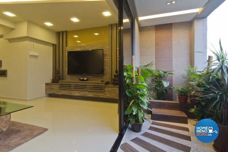Contemporary, Tropical Design - Balcony - Landed House - Design by Home Studio Design Pte Ltd