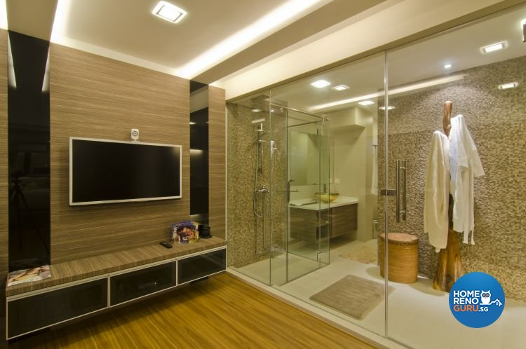 Contemporary, Tropical Design - Bathroom - Landed House - Design by Home Studio Design Pte Ltd