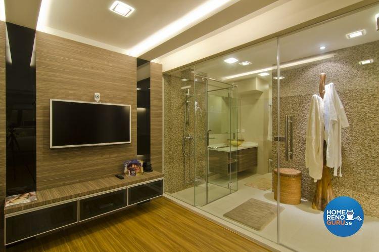 Contemporary, Tropical Design - Bathroom - Landed House - Design by Home Studio Design Pte Ltd