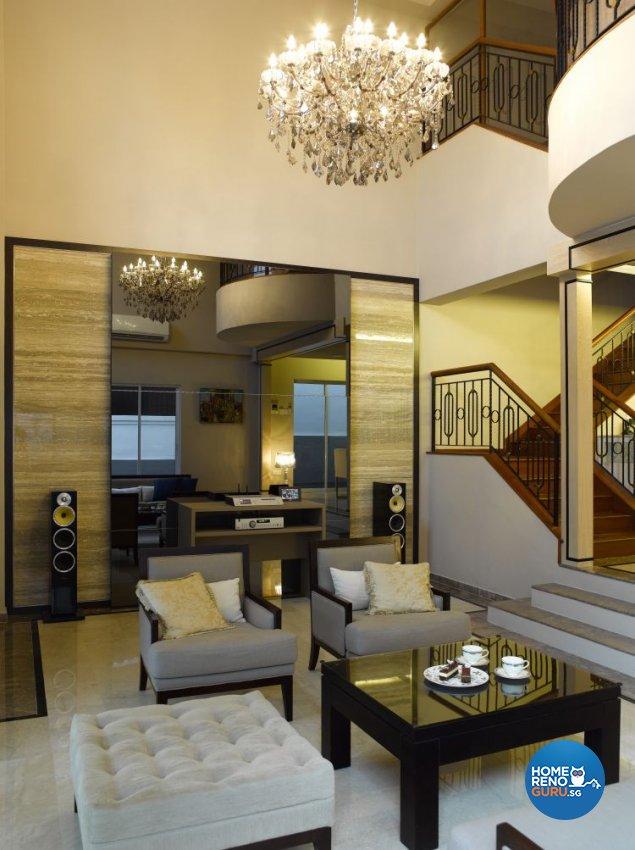 Contemporary, Modern Design - Living Room - Landed House - Design by Home Studio Design Pte Ltd