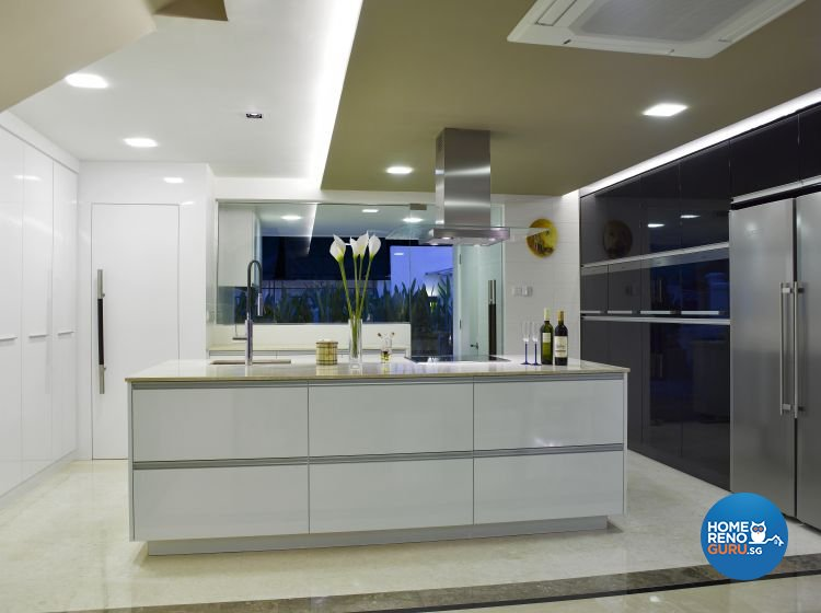 Contemporary, Modern Design - Kitchen - Landed House - Design by Home Studio Design Pte Ltd