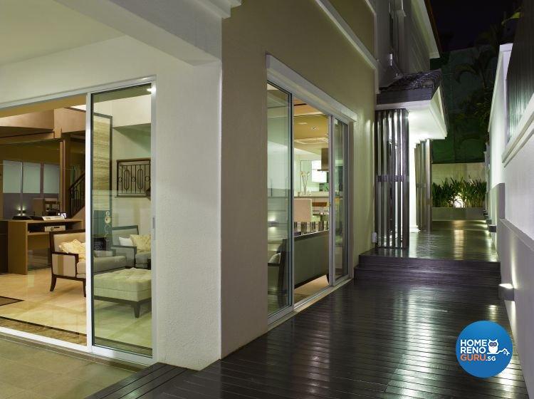 Contemporary, Modern Design - Balcony - Landed House - Design by Home Studio Design Pte Ltd
