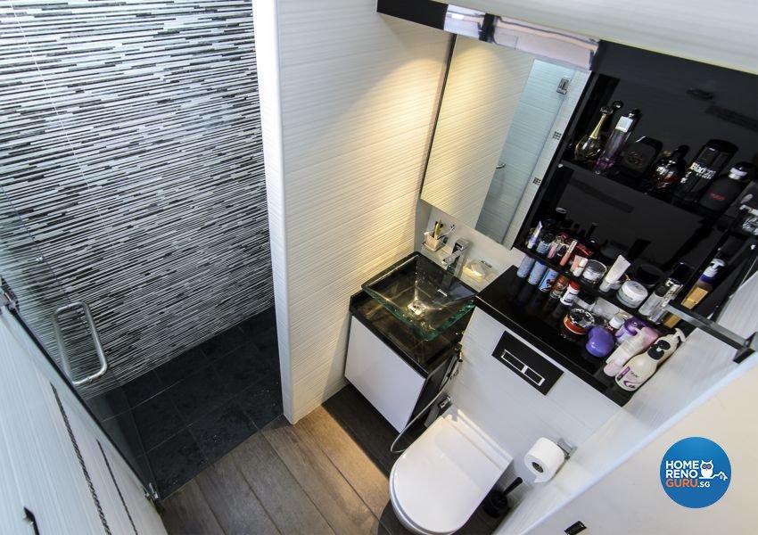 Modern, Retro Design - Bathroom - HDB 3 Room - Design by Homemaker I.D.