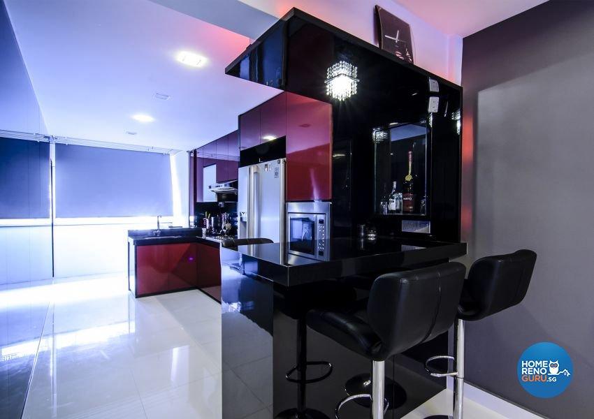 Modern, Retro Design - Kitchen - HDB 3 Room - Design by Homemaker I.D.