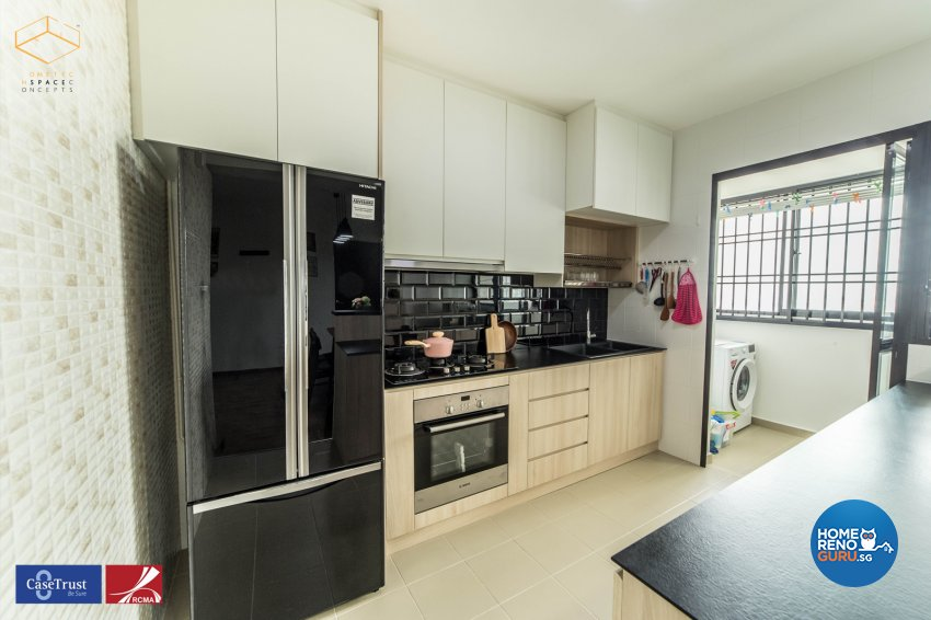 Scandinavian Design - Kitchen - HDB 4 Room - Design by Hometech Space Concepts