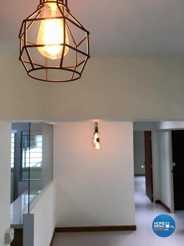 Minimalist, Scandinavian, Tropical Design - Living Room - HDB 4 Room - Design by Hometrenz Design & Construction