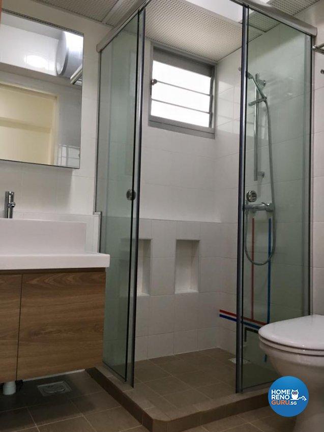 Minimalist, Scandinavian, Tropical Design - Bathroom - HDB 4 Room - Design by Hometrenz Design & Construction