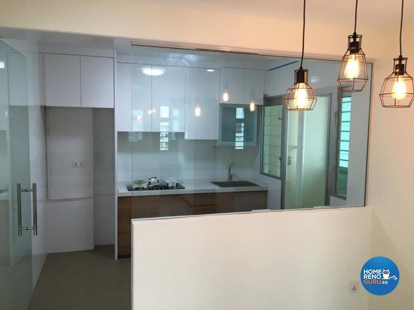 Minimalist, Scandinavian, Tropical Design - Kitchen - HDB 4 Room - Design by Hometrenz Design & Construction