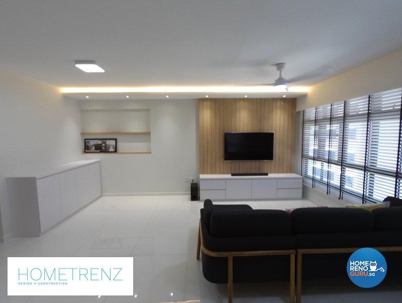 Eclectic, Minimalist, Scandinavian Design - Living Room - HDB 5 Room - Design by Hometrenz Design & Construction