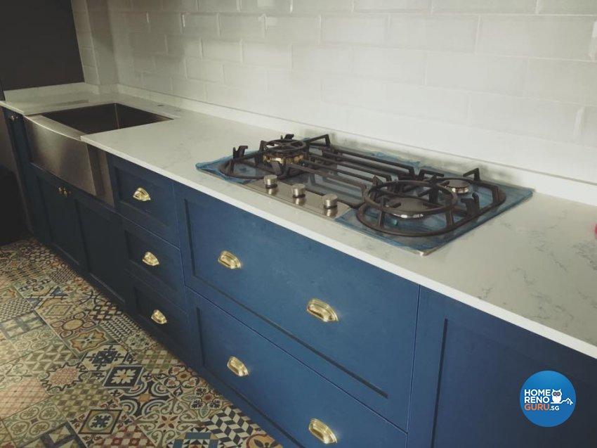 Country, Rustic, Vintage Design - Kitchen - HDB 5 Room - Design by Hometrenz Design & Construction