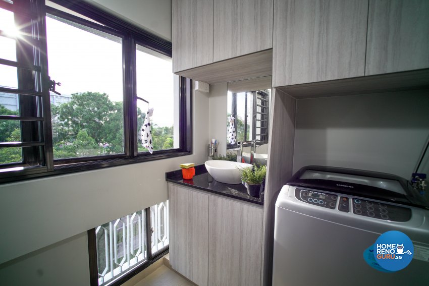 Classical, Minimalist Design - Balcony - HDB 4 Room - Design by How 2 Design Pte Ltd