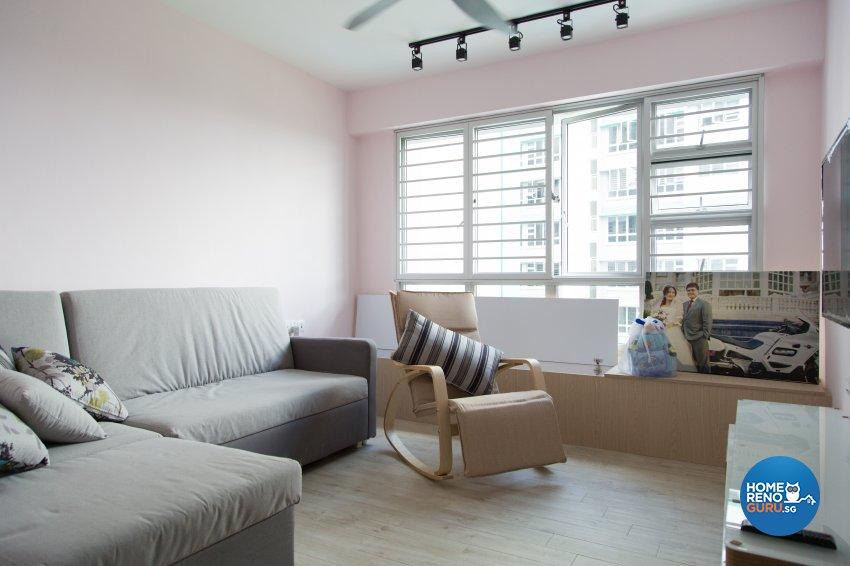 Contemporary, Modern, Scandinavian Design - Living Room - HDB 4 Room - Design by How 2 Design Pte Ltd