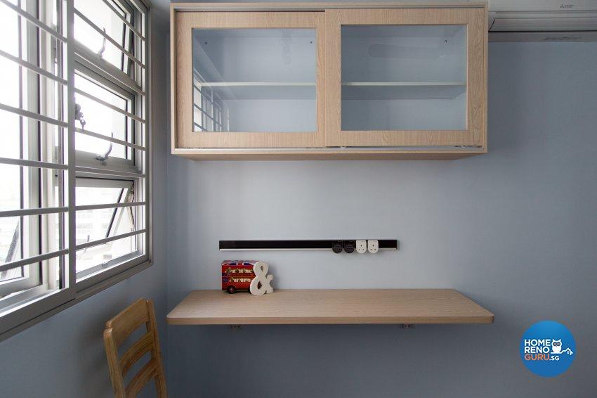 Contemporary, Modern, Scandinavian Design - Study Room - HDB 4 Room - Design by How 2 Design Pte Ltd