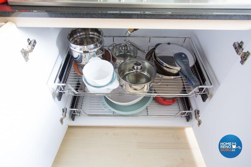 Contemporary, Modern, Scandinavian Design - Kitchen - HDB 4 Room - Design by How 2 Design Pte Ltd