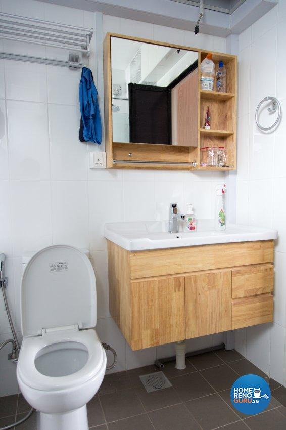 Contemporary, Modern, Scandinavian Design - Bathroom - HDB 4 Room - Design by How 2 Design Pte Ltd