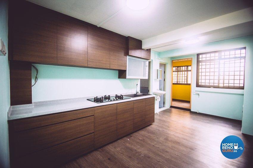 Modern Design - Kitchen - HDB 3 Room - Design by How 2 Design Pte Ltd