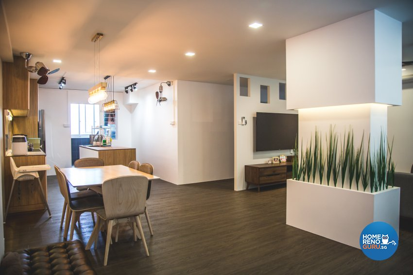 Minimalist, Modern, Scandinavian Design - Dining Room - HDB 5 Room - Design by How 2 Design Pte Ltd