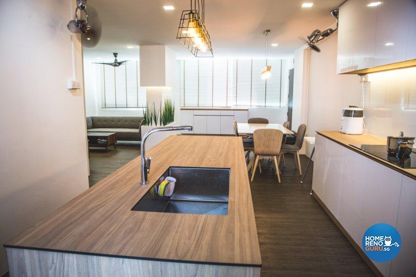 Minimalist, Modern, Scandinavian Design - Kitchen - HDB 5 Room - Design by How 2 Design Pte Ltd