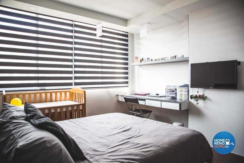 Minimalist, Modern, Scandinavian Design - Bedroom - HDB 5 Room - Design by How 2 Design Pte Ltd