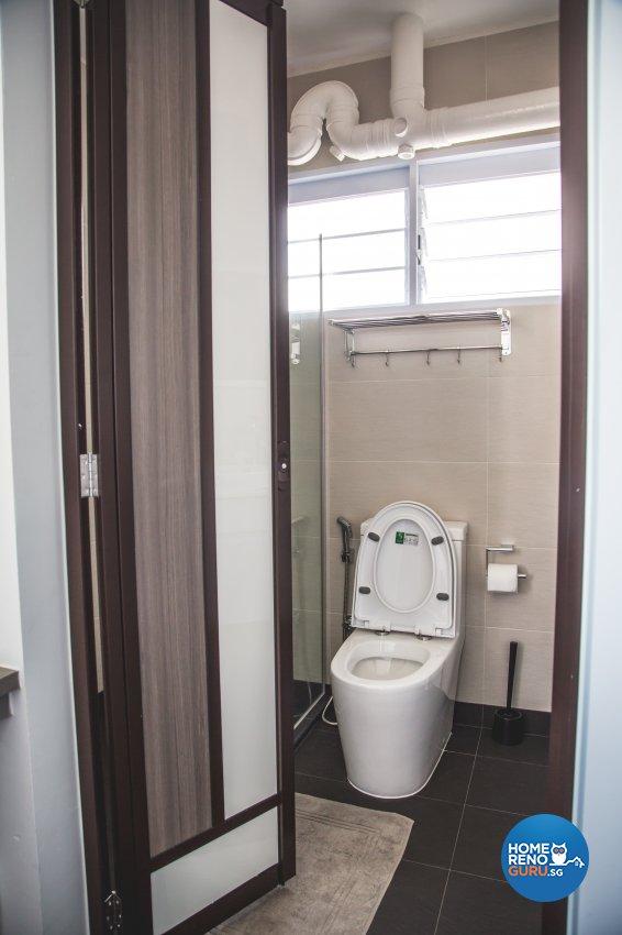 Minimalist, Modern, Scandinavian Design - Bathroom - HDB 5 Room - Design by How 2 Design Pte Ltd