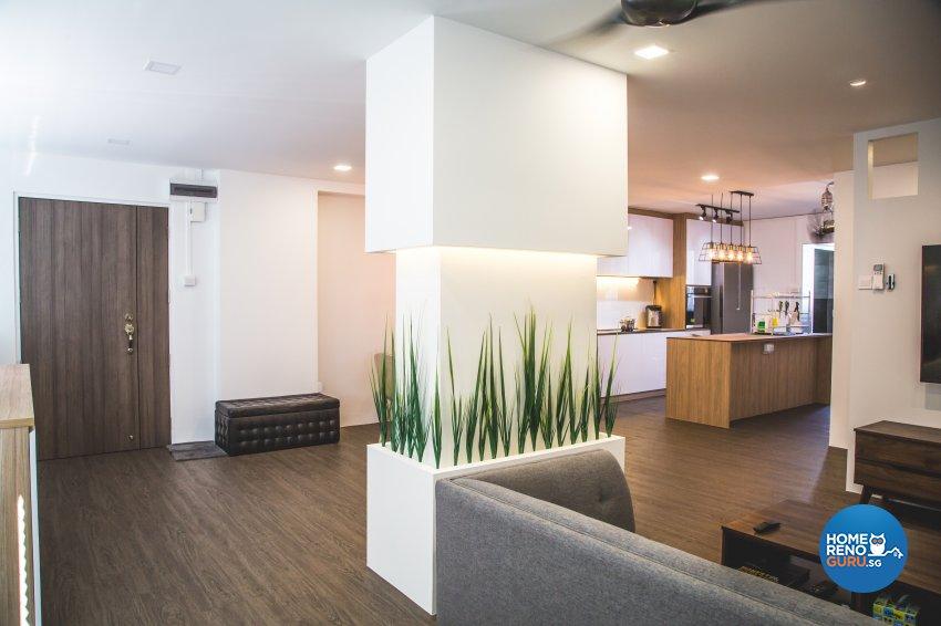 Minimalist, Modern, Scandinavian Design - Living Room - HDB 5 Room - Design by How 2 Design Pte Ltd