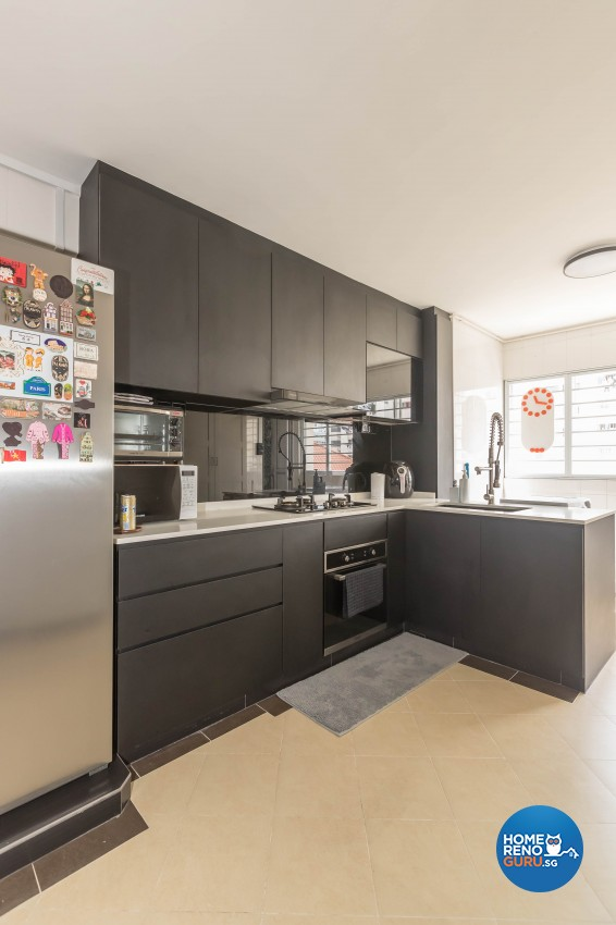 Modern Design - Kitchen - HDB 3 Room - Design by Hue Concept Interior Design Pte Ltd