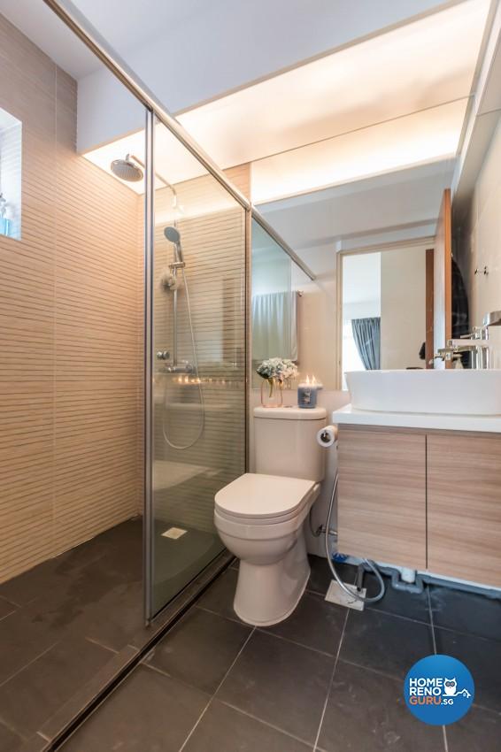Modern Design - Bathroom - HDB 3 Room - Design by Hue Concept Interior Design Pte Ltd