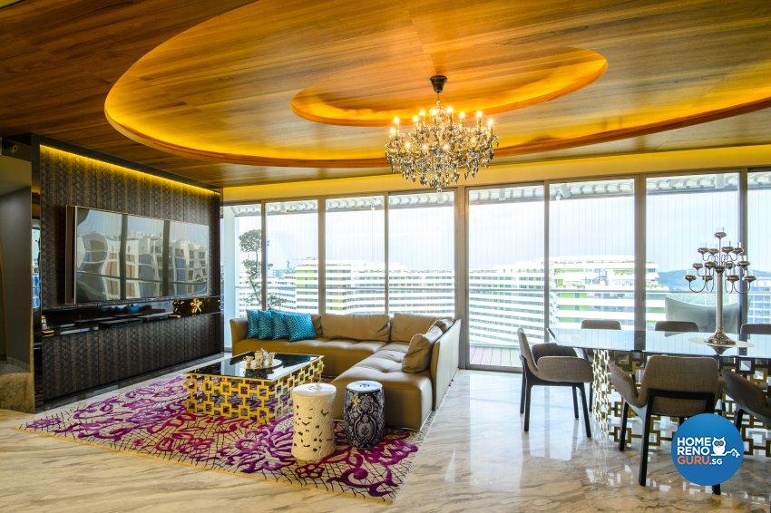 Contemporary, Eclectic, Modern Design - Living Room - Condominium - Design by Hue Concept Interior Design Pte Ltd
